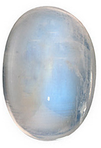 Natural Rainbow Moonstone Gem, Oval Shape, Grade AAA, 8.00 x 6.00 mm in Size, 1.6 carats