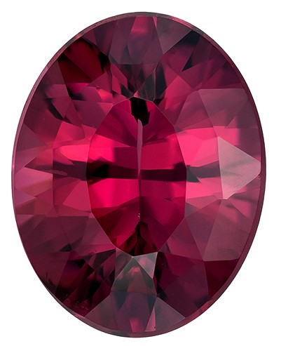 Natural Rich Rhodolite Gemstone, Oval Cut, 3.13 carats, 10.1 x 7.9 mm , AfricaGems Certified - A Great Buy