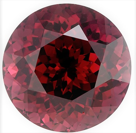 Natural Rich Rhodolite Gemstone, Round Cut, 6.41 carats, 10.6 mm , AfricaGems Certified - A Deal