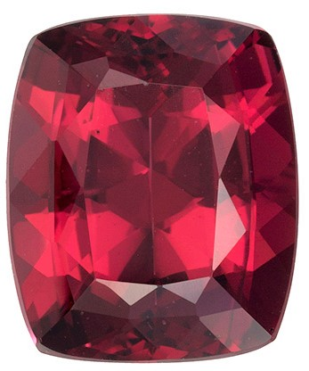 Natural  Rhodolite Garnet Gemstone, 6.4 carats, Cushion Shape, 12.3 x 10.1 mm, Amazing Gemstone - Low Price