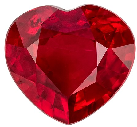 Natural Ruby Heart Shaped Gemstone, 0.78 carats, 5.3 x 5.8mm - Unique Beauty