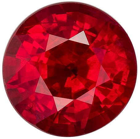 Natural Ruby Round Shaped Gemstone, 1.2 carats, 6.1mm - A Beauty of A Gem