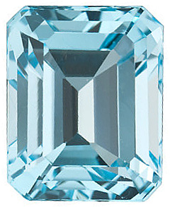 Natural Sky Blue Topaz Stone, Emerald Shape, Grade AAA, 9.00 x 7.00 mm in Size, 3 Carats