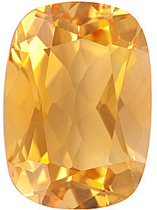 Standard Size Faceted Loose Antique Cushion Shape Citrine Gemstone Grade A, 8.00 x 6.00 mm in Size, 1.22 carats