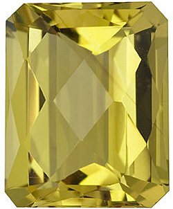 Natural Standard Size Loose Emerald Shape Checkerboard Lemon Quartz Gem Grade AA, 10.00 x 8.00 mm in Size, 3.3 Carats