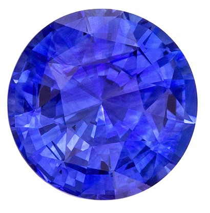 Natural Stunning  Blue Sapphire Gemstone, 1.78 carats, Round Shape, 7.3 mm, Super Great Buy