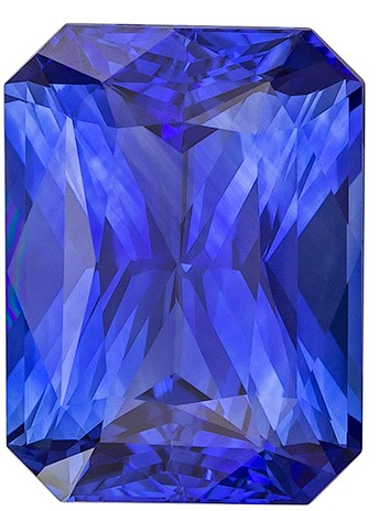 Natural Stunning Blue Sapphire Gemstone, 4.34 carats, Radiant Shape, 10.79 x 8.11 x 5.12 mm, Hard to Find Gem GIA Cert