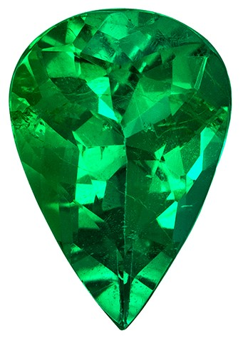 Natural Stunning  Emerald Gemstone, 1.35 carats, Pear Shape, 9.8 x 6.7 mm, Super Great Buy