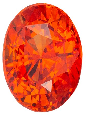 Natural Stunning  Orange Sapphire Gemstone, 1.03 carats, Oval Shape, 6.48 x 4.79 x 4.06 mm, A Natural Wonder