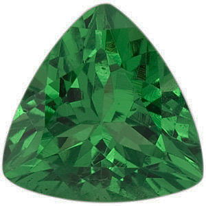Natural Tsavorite Garnet Gemstone, Trillion Shape, Grade AAA, 4.50 mm in Size, 0.33 carats