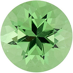 Natural Tsavorite Garnet Stone, Round Shape, Grade AA, 2.75 mm in Size, 0.1 carats