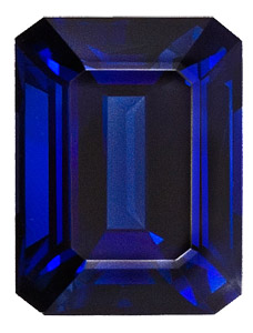 Natural Unheated Blue Sapphire - Fine Rich Blue Color, Emerald Cut , 6.11 carats, with AGTA Certificate - SOLD