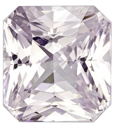 Natural White Sapphire Gemstone, Radiant Cut, 3.48 carats, 8.3 x 7.7 mm , AfricaGems Certified - A Beauty of A Gem