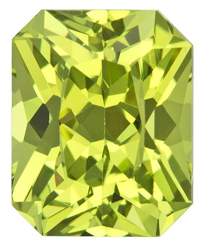 Natural Yellow Chrysoberyl Gemstone, Radiant Cut, 2.27 carats, 7.7 x 6.2 mm , AfricaGems Certified - A Deal