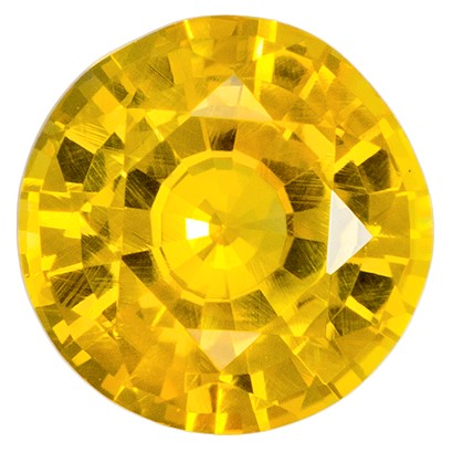 Natural Yellow Sapphire Gemstone, Round Cut, 0.95 carats, 5.9 mm , AfricaGems Certified - A Beauty of A Gem