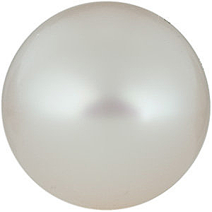Near Round Half Drilled Genuine White Freshwater Pearl in Grade AA
