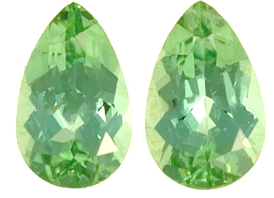 New Find in Afghanistan Chrome Green Tourmaline Top Quality Gemstones - Very Well Matched, Intense Color, Great for Jewelry, Pear Shape Cut, 3.24 carats