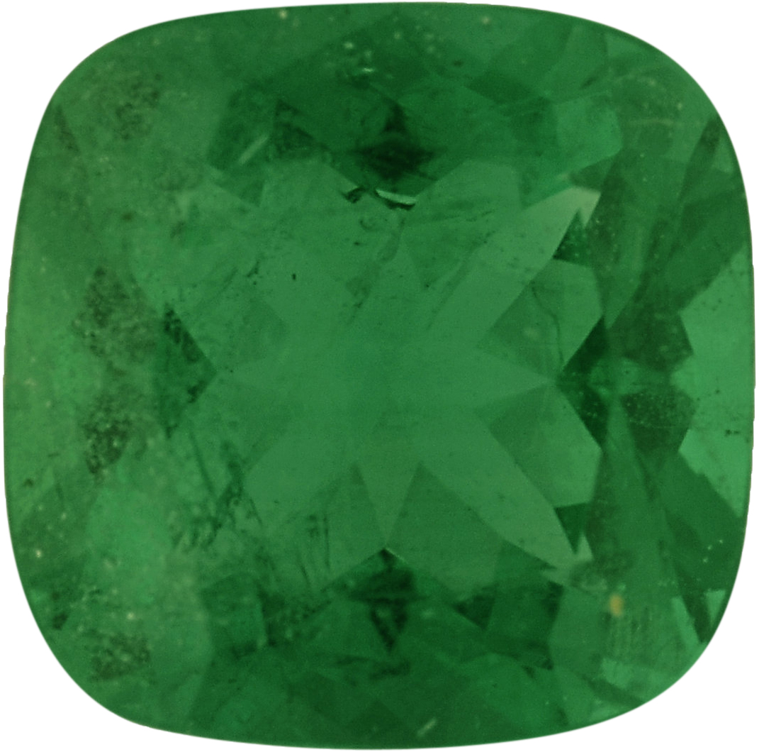 Nice Antique Square Cut Loose Emerald Gem, Vivid Bluish Green, 5.50 x 5.49 mm, 0.57 carats