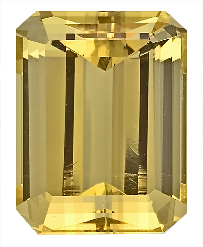 Nice Cut and Proportions, Large Genuine Unheated Yellow Beryl Gemstone from Nigeria, Octagon Cut, 17.8 x 13.7 mm, 17.71 carats