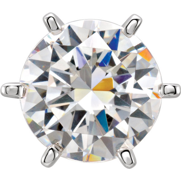 Nice Looking 14kt Gold 6Prong Heavyweight Peg Jewelry Finding for Round Gemstone Size 4mm  9.70mm