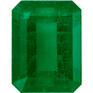 Nice Looking Emerald Loose Gem in Emerald Cut, Vibrant Blue Green, 8.04 x 6.12  mm, 1.52 Carats