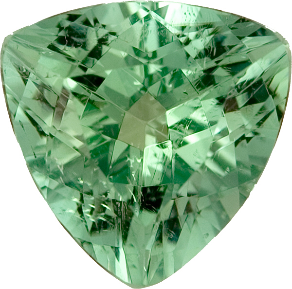 Nice Looking Faceted Trillion Shape Paris Green Tourmaline - Not Treated, 11.9 x 11.8 x 11.8mm, 5.38 carats