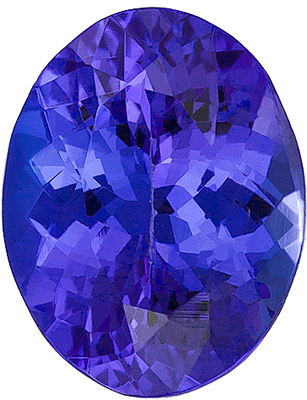 Nice Looking Genuine Tanzanite stone for SALE! Oval cut, 1.75 carats