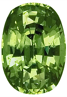 Nice Looking Green Demantoid Garnet Gemstone, Antique Cushion Cut, 8.4 x 6 mm, 1.95 carats