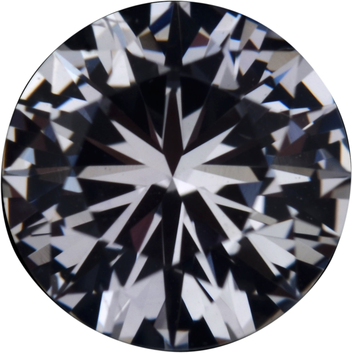 Nice Looking Sapphire Loose Gem in Round Cut, Near Colorless Hint of Blue, 6.74 mm, 1.39 Carats