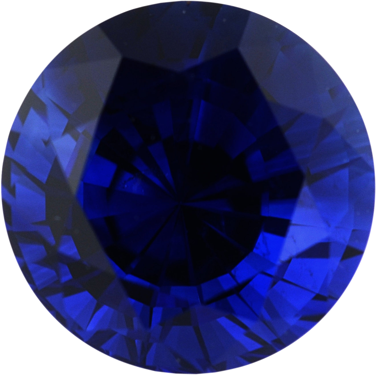 Nice Looking Sapphire Loose Gem in Round Cut, Vibrant Violet Blue, 6.53 mm, 1.62 Carats