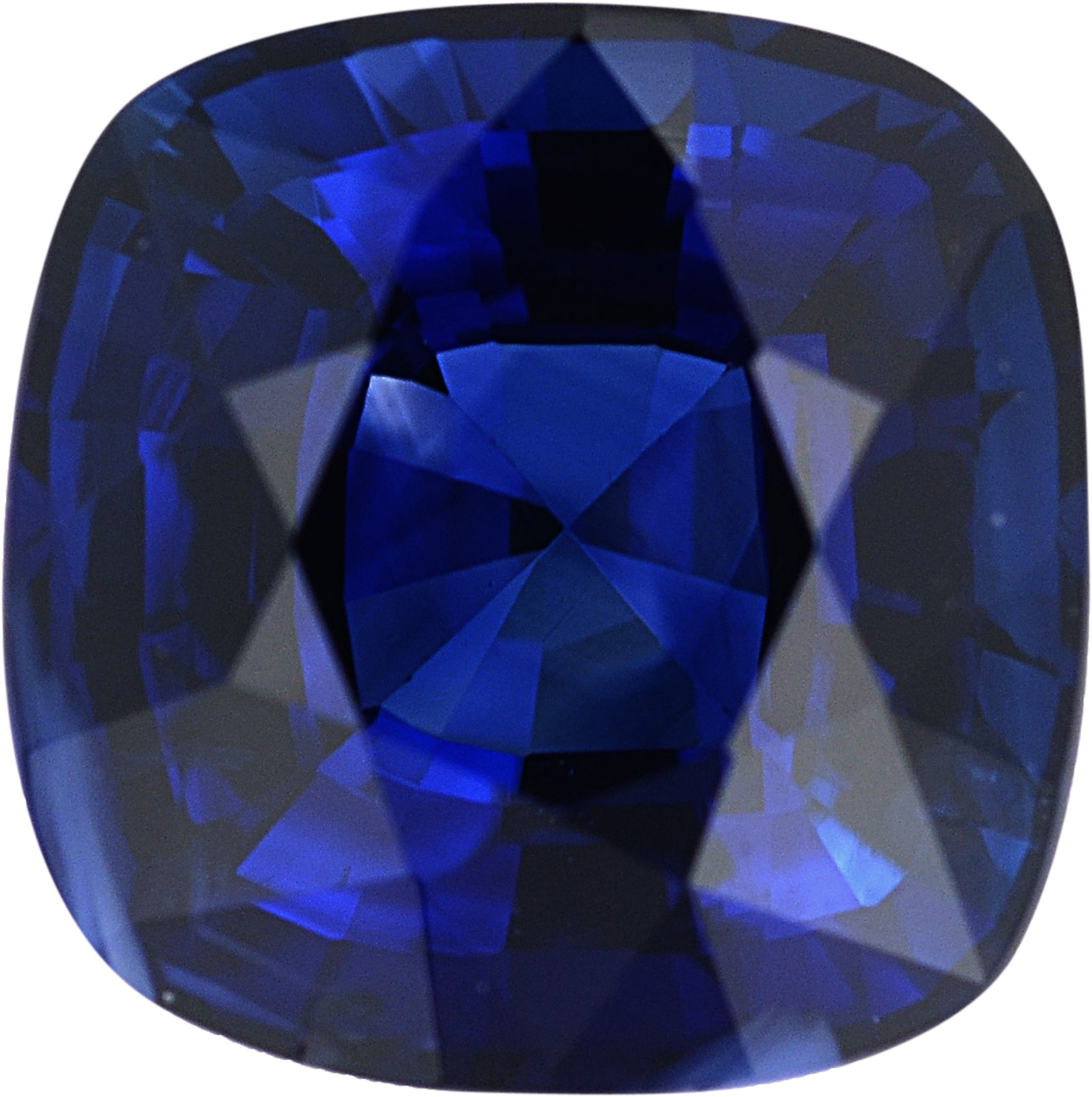 Nice Sapphire Loose Gem in Antique Square Cut, Vibrant Blue Violet, 6.16 x 6.12  mm, 1.35 Carats
