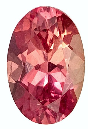 No Heat 0.67 carats Padparadscha Sapphire Loose Gemstone in Oval Cut, Pink Peach, 6.1 x 4 mm