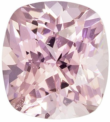 No Heat 1.63 Carat GIA Cushion Cut Peach Sapphire Loose Gem, Light Peach Color in 7.1 x 6.5 mm