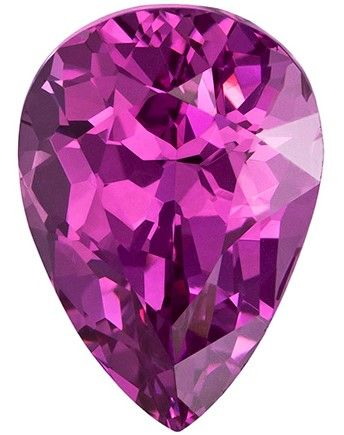 Authentic Purplish Pink Spinel Gemstone, Pear Cut, 3.59 carats, 11 x 7.9 mm , AfricaGems Certified - A Magnificent Gem