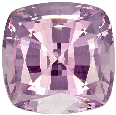 No Heat 7 mm Pink Spinel Genuine Gemstone in Cushion Cut, Light Baby Pink, 1.85 carats