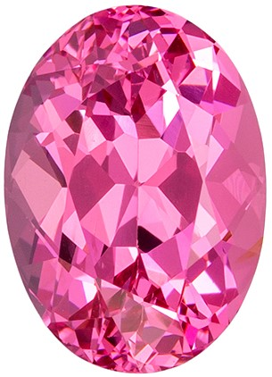 No Treatment 1.59 carats Pink Spinel Loose Gemstone in Oval Cut, Hot Pink, 7.9 x 5.7 mm