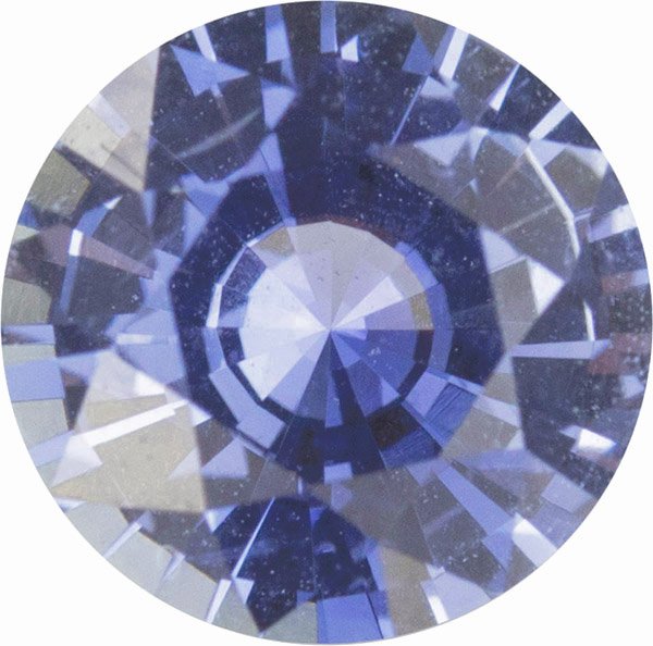 No Treatment AGL Certified Blue Sapphire Round Cut Gem in Medium Cornflower Blue, 6.0mm, 0.92 carats