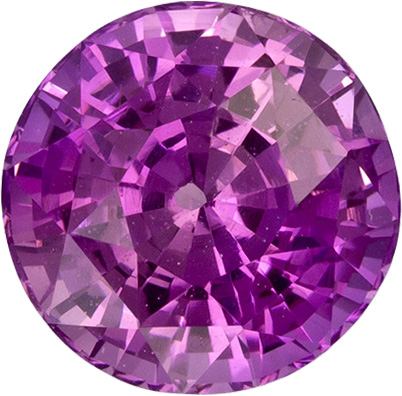 No Treatment Intense Pure Pink Sapphire Gem in Round Cut, 6.95 x 4.99 mm, 1.82 carats - SOLD