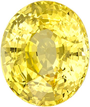 No Treatment Rich Pure Yellow Sapphire Gem in Oval Cut, GIA Certified in 10.68 x 9.02 x 6.62 mm, 5.16 carats - SOLD