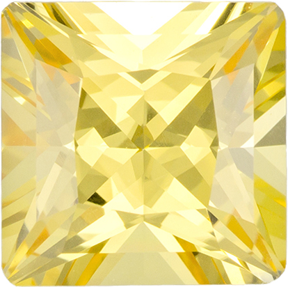 No Treatment Rich Pure Yellow Sapphire Gem in Princess Cut, GIA Certified in 6.85 x 4.5 mm, 1.91 carats