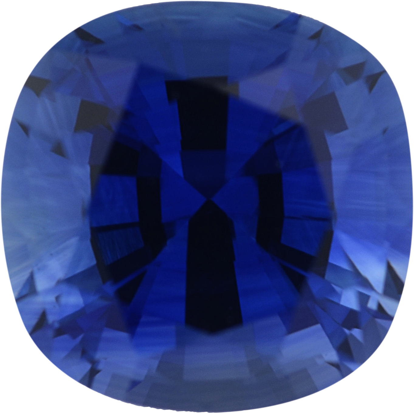One-of-a-Kind Sapphire Loose Gem in Antique Square Cut, Medium Violet Blue, 6.55 x 6.52  mm, 1.59 Carats