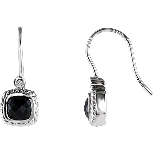 Stunning Onyx & Diamond Earrings