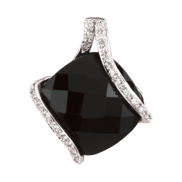Chic Onyx & Diamond Pendant
