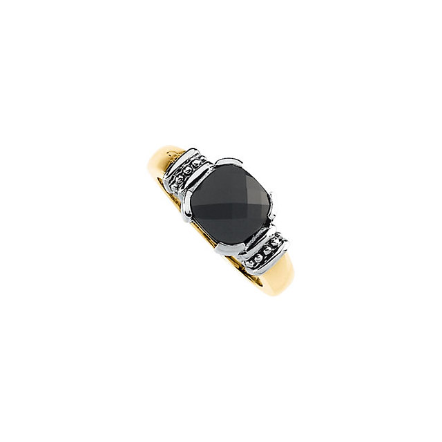 Great Deal in Onyx Granulated Design Ring