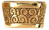 Ornate 14kt Gold Super Decorative Tapered Bezel Setting for Pear Gemstone Sized 6.00 x 4.00 mm to 12.00 x 8.00 mm