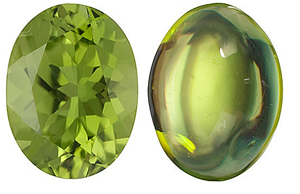 <B>Peridot Oval Cut - Calibrated</b>
