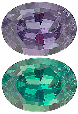 Oval Cut Genuine Alexandrite in Grade A