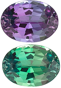 Oval Cut Genuine Alexandrite in Grade AA