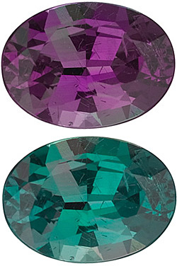 Oval Cut Genuine Alexandrite in Grade GEM