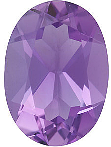 Oval Cut Genuine Amethyst in Grade A